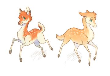 Small Trolls: Fawns by ElliPuukangas