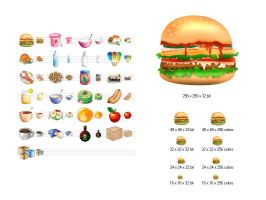 Food Icon Library by Ikont