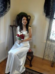 The Bride With Bouquet by crowette