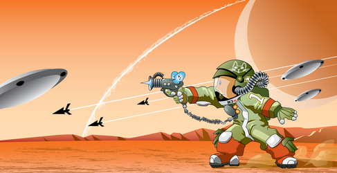 Skippy on Mars by paulster99