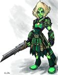 Peridot - Warrior Gem by TheLivingShadow