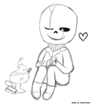 Gaster Chibi - He beyond loves his sweets! by SoulerClash