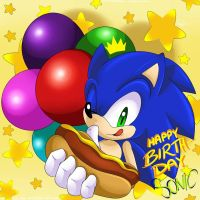 Sonic's 26th Anniversary by SonicForTheWin2
