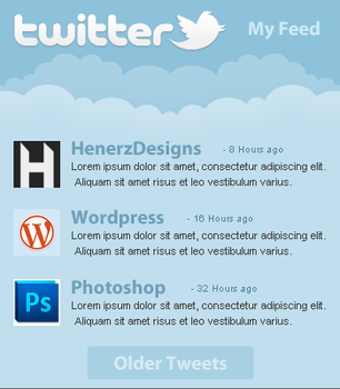 Free Twitter Feed PSD by Henerz-Design
