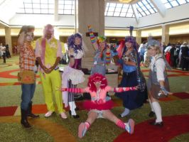 AWA '13: The Mane 6 plus Derpy Hooves by NaturesRose