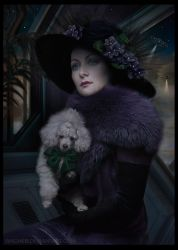 a Lady with her Dog. Colonists on Mars (series) by Wagner