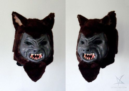 Werewolf mask by MissAnnThropia