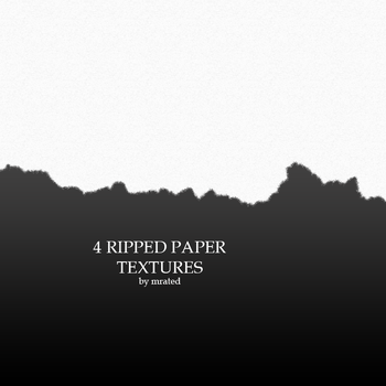 4 ripped paper textures by vanillaisyummy