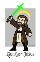 Qui-Gon Jesus by Booter-Freak