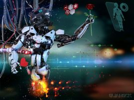 Robot in love by elianeck