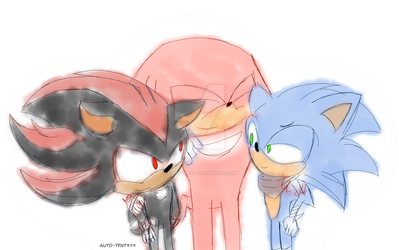 Sonic Boom: Sonic Shadow and Knuckles by AutoTFNT979