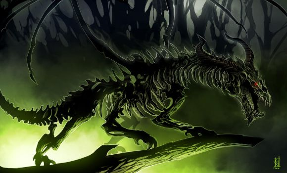 Zombie Dragon by TheRisingSoul