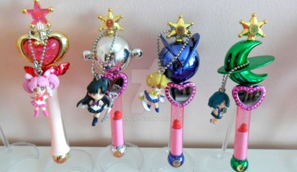 Sailor Moon Gashapon - Rods 3 and Keychains by Naneia