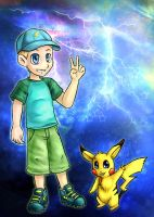 Etienne with pikachu by tsuta