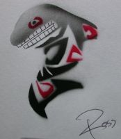 Tribal Orca Killer Whale Totem by rosswright