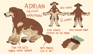adrian the werepood by d0gtea