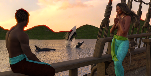 Atha'an Miere :: Whale Watching by DrowElfMorwen