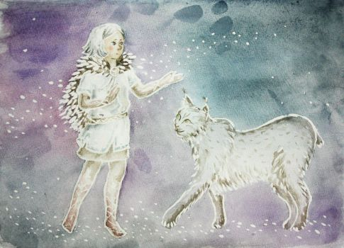 Little Lalli and his lynx by Helia7