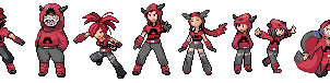 Gym Leader Team Magma Sprites by ShinySeabass