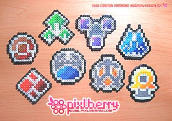 Sinnoh Region Badges by hotpinkflamingo