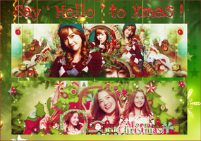 [20.12.14] {Free PSD} Say ' Hello ' to Christmas ! by jungnaki123