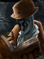 Rorschach and his journal by MARKCW