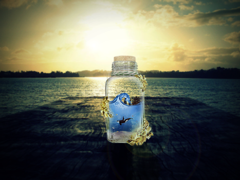 in a bottle by Darkmy1