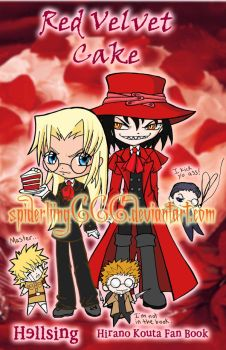 Hellsing doujinshi cover by spiderliing666