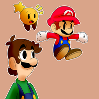 Paper Mario drawing by BaconBloodFire