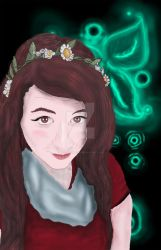 Katelyn De Villers Self Portrait 2015 by WinterWings99