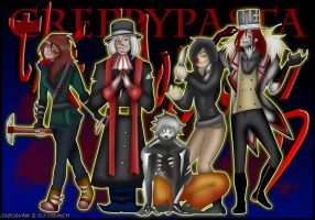 CreepyPasta TEAM- The Proteges by Dav-Ink