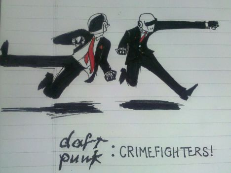Daft Punk: Crime Fighters by TheRussianFunk