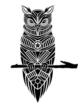 Tattoo Owl by HollowIchigoBanki