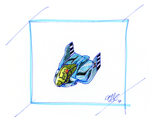 Blue Falcon (F-Zero SNES) by AdamTSC