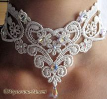 Victorian Wedding Bridal Faerie Fairy necklace by MysteriousMaemi