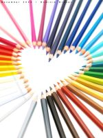 crayon heart by dkraner