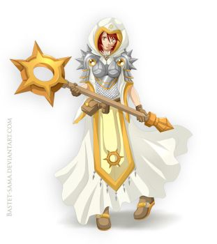 Ariadna Cleric Dungeon and Dragons by Bastet-sama