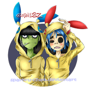 GoRiLLaz with PokeHoodie [Plusle and Minun]