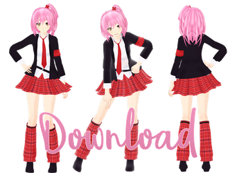 Hinamori Amu Uniform Ver. [Download] by AmuletFortun