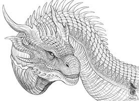 Iron Dragon Sketch by Araless