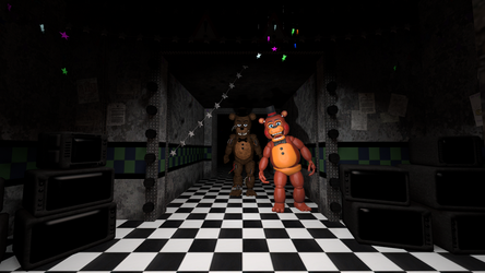 (SFM) First Attempt at a FNAF Render by Mario28037