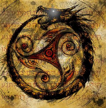 Ouroboros (eating my him your self) by MystiChakra