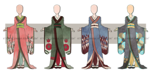 ...Kimono Dress Batch... 0/4 CLOSED by Seelenbasar