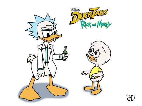 Ducktales Rick And Morty by JTrace