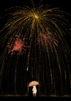 Rain of fireworks by kosal