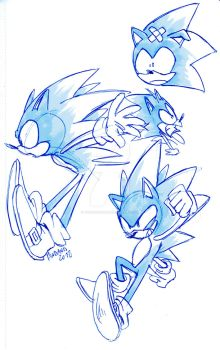 Hedgehog sketches by ThePandamis