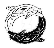 Celtic Dolphins Yin-Yang by HorseFantasy