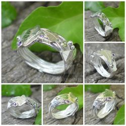 ivy ring with peridot and amethyst. by WallaceReg