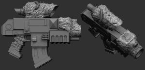 Warhammer 40k CSM Bolter Scope by MKounelakis
