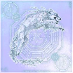 Wolf of Ice by yuumei